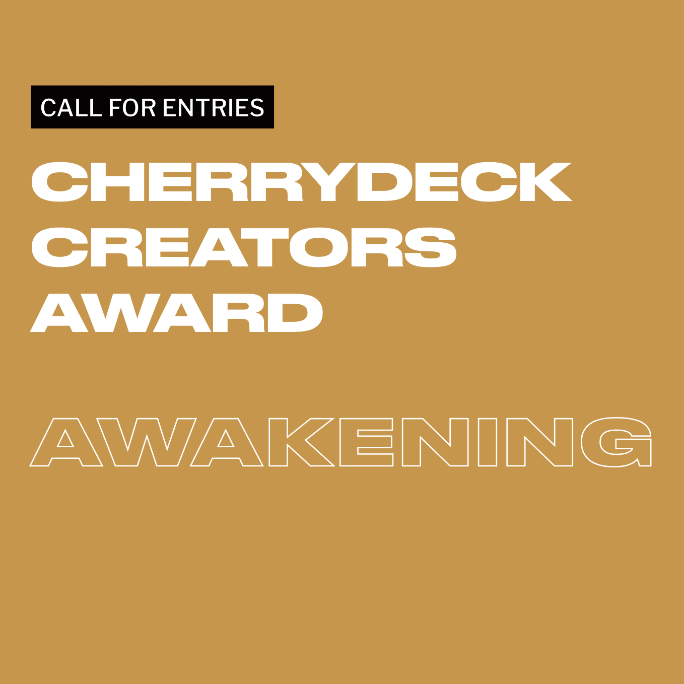 Call For Entries: The Creators Award 2